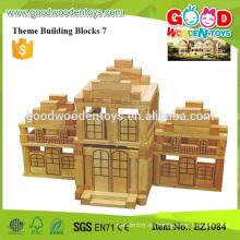 Bloque natural del juguete de la construcción del tamaño enorme 428pcs para los niños