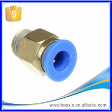 "PC connector pneumatic fitting brass PC1/4""-1/4"""
