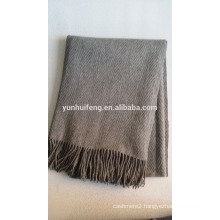 inner mongolia wool.pashmina.cashmere throw.blanket herringbone