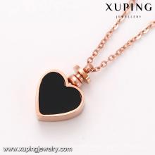 Collier-00388 bijoux de mode en gros en Chine, Prix bon marché et créations en forme de coeur, Collier en chaîne en or rose