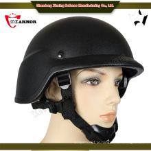 China atacado Kevlar pe capacete balístico tático