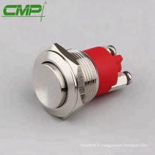 CMP imperméable ip68 1NO interrupteur momentané en acier inoxydable 12v
