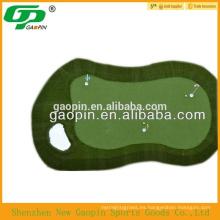 Campo de golf, alfombra de mini golf y césped artificial