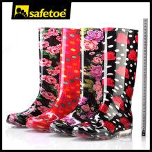 Frauen regen Stiefel, klare Regen Stiefel Frauen W-6040