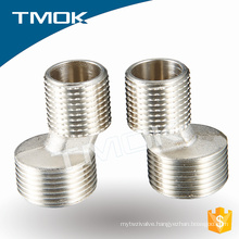 brass nickel plating double internal thread fitting