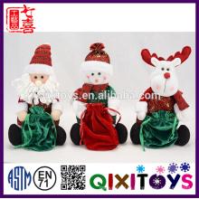 Последние Рождественских творческие подарки 2016 redeer игрушка с конфеты мешок