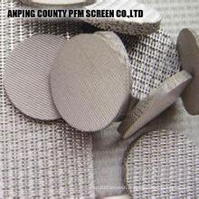 Éléments filtrants cylindriques multicouche Ss 2 micron fritté Filtre à huile de grillage