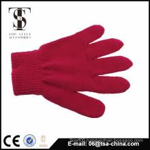 women and grils stripe five finger knitting gloves