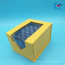 Taille personnalisée conception unique flip top cravate emballage emballage boîte-cadeau
