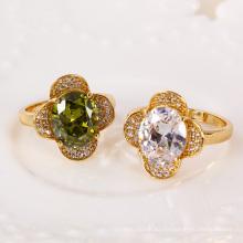 11263 Xuping nuevo diseño precio barato anillos de bodas de piedras preciosas oro 18k