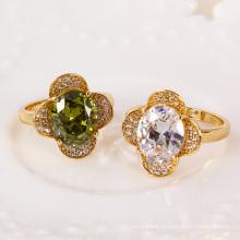11263 Xuping New Design Cheap Price gemstone Wedding Rings Gold 18k