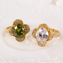 11263 Xuping New Design Preço Barato gemstone Anéis De Casamento De Ouro 18k