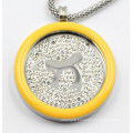 High Quality 316L Surgical Stainless Steel Locket Pendant with Enamel Top