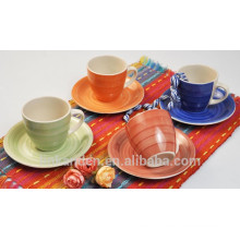 Haonai wholesale tea cups , ceramic coffee cups set , porcelain coffee cups