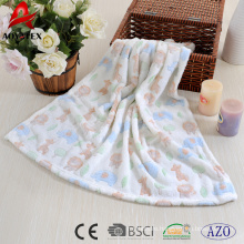 knit animal pattern Jacquard coral fleece baby cute blanket