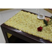 Tabela Placemat do laço do ouro do PVC de 50cm * 20m para o uso da casa / partido / casamento