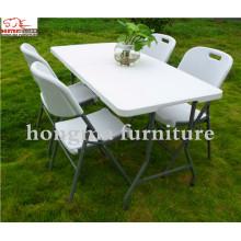 Открытый пластиковый портативный 183 * 76 * 74 см складной стол