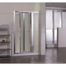 Porta do chuveiro bifold + em linha (wa-ib090)