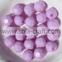 Crystal Lamp Work & Glass Loose Round Beads Material Decoration Glass Gifts Bead Light Purple 4mm