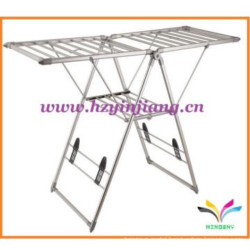 New model floor stand metal foldable garment store display rack