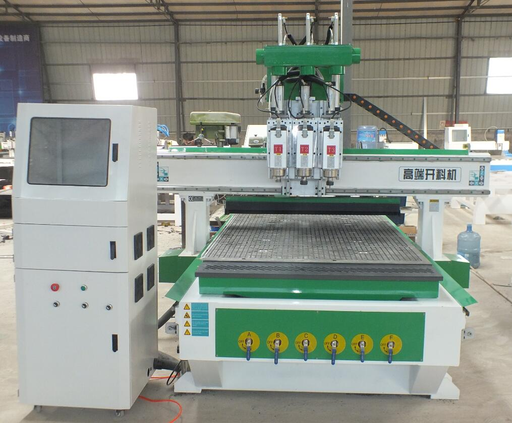 three spindles cnc router machine