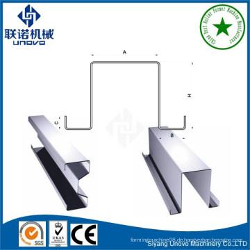 Omega-verzinktem Stahl kaltgewalzten Profilen