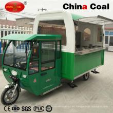 Camión vendedor de comida rápida móvil de acero inoxidable