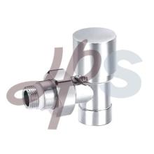 chromed plated angle typle brass heating valve
