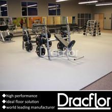 Revêtement de sol en PVC pour gymnase Salle de poids