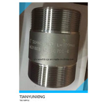 Forged Duplex Stainless Steel Fittings Tbe Threaded Nipple