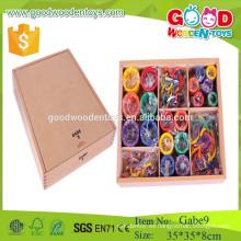 GABE 9 madera círculo juguetes froebel regalos preescolar gabe juguete educativo para niño