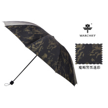 Jefe de guerra 25 pulgadas impermeable a prueba de viento paraguas plegable en Camo
