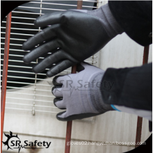 SRSAFETY cheap price/15g nylon & spandex foam nitirle coated/foam nitile coated glove
