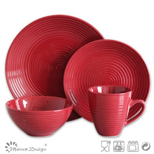 16PCS Swirl Stoneware Dinner Set