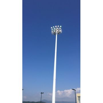 15m Swing Down High Mast Lighting Pole