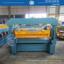 Corte de aço cortado na máquina de comprimento