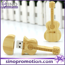 Vente en gros Miniature Guitare en bois USB Flash Drive 8GB
