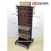 Retail Clothing Store Fixtures Rolling Floor Display Stand