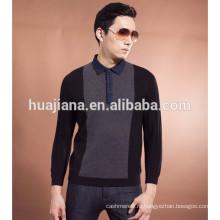 2015 мода мужская 100% кашемировый свитер футболки