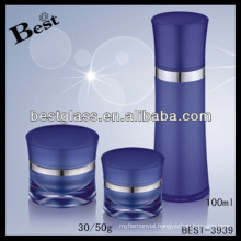 100ml blue frosting face cream container , promotional acrylic face cream container