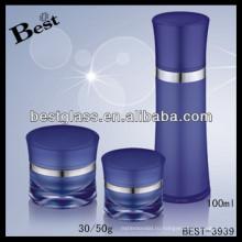 100мл синий глазурь контейнера для крема для лица , выдвиженческая акриловая контейнера для крема для лица
