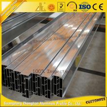 Perfil de alumínio anodizado de alta qualidade para parede de cortina