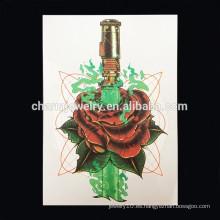 OEM Venta al por mayor flor tatuaje brazo mano de la mano tatuajes temporales tatuaje brazo mujeres W-1020