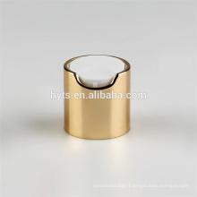 High Quality silver and gold 28/410 Metal Aluminium screw Disc Top Cap