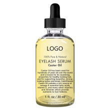 100% Pure Natural Castor Oil Eyelash Serum with Mascara Brush and Eyeliner Applicator