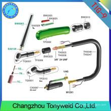Torch WP9 torção de solda de soldagem personalizada tig