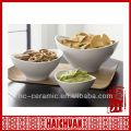 Ceramic oval shaped bowl