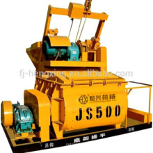 JS500 compulsary twin shaft concrete mixer, concrete mixing machine