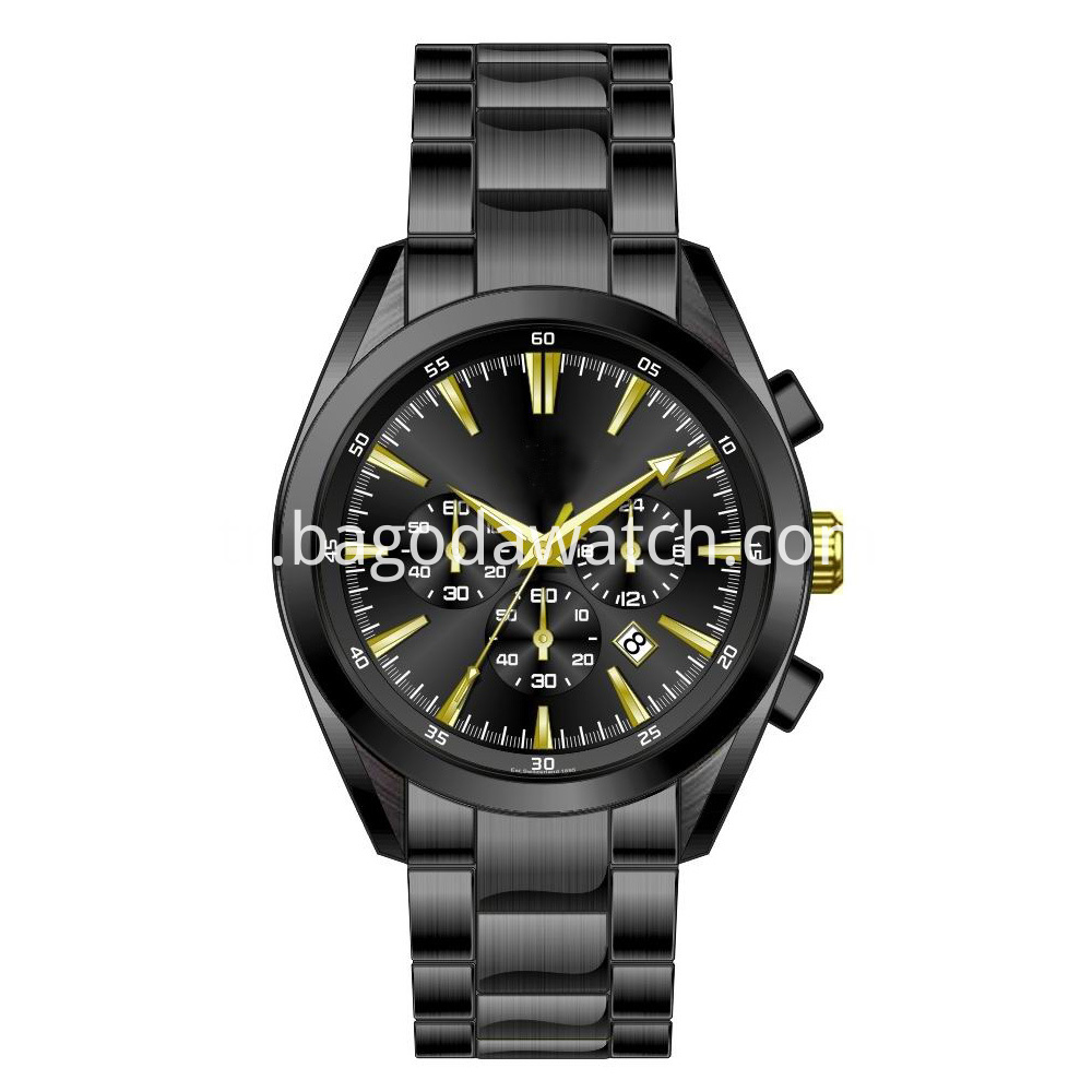 All Black Stainless Steel Watch