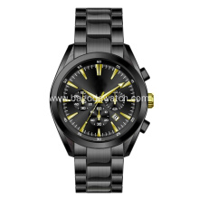 All black stainless steel watch for men